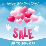 De verkoop van de valentijnskaartendag Royalty-vrije Stock Afbeelding