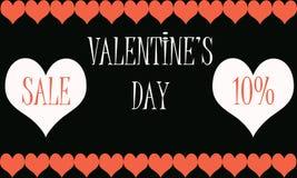 De verkoop van de valentijnskaartendag vector illustratie