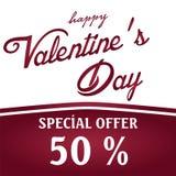 De verkoop van de valentijnskaartendag Vectorillustratie als achtergrond behang vliegers, uitnodiging, affiches, brochure, banner stock fotografie