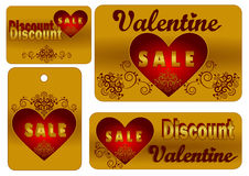 De Verkoop van Valentine stock illustratie