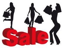 De verkoop van vrouwen Stock Afbeeldingen