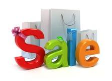 De verkoop van Word met kleurrijke brieven Royalty-vrije Stock Foto's