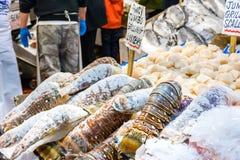 De verkoop van zeekreeftstaarten Royalty-vrije Stock Afbeelding