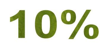 De verkoop van de zomer Korting 10 percenten, wit geïsoleerde achtergrond De textuur van het blad van de boom Banner, vlieger, ui stock illustratie