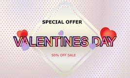 De verkoopachtergrond van de valentijnskaartendag met ballonshart Vector illustratie behang vliegers, uitnodiging, affiches, broc royalty-vrije illustratie