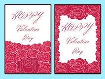 De verkoopachtergrond van de valentijnskaartendag met vastgesteld patroon Vectorillustra Stock Afbeeldingen