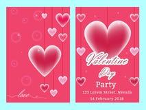 De verkoopachtergrond van de valentijnskaartendag met vastgesteld patroon Vectorillustra Royalty-vrije Stock Afbeeldingen