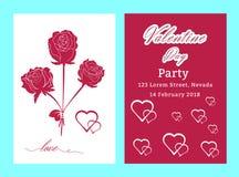 De verkoopachtergrond van de valentijnskaartendag met vastgesteld patroon Vectorillustra Stock Foto's