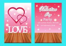 De verkoopachtergrond van de valentijnskaartendag met vastgesteld patroon Vectorillustra Royalty-vrije Stock Foto