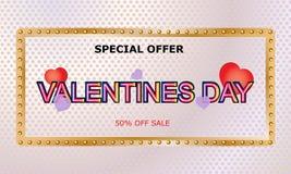 De verkoopachtergrond van de valentijnskaartendag Vector illustratie behang vliegers, uitnodiging, affiches, brochure, banners -  royalty-vrije illustratie