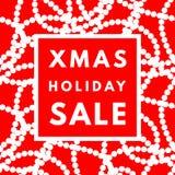 De verkoopaffiche van de Kerstmisvakantie Royalty-vrije Stock Afbeeldingen