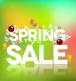 De verkoopaffiche van de lente Stock Afbeelding