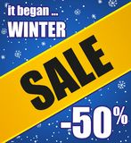 De verkoopaffiche van de winter Stock Afbeeldingen