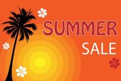 De verkoopaffiche van de zomer Stock Afbeeldingen