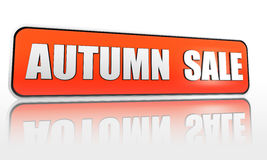 De verkoopbanner van de herfst Royalty-vrije Stock Fotografie