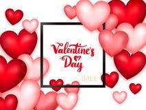 De Verkoopbanner van de valentijnskaartendag Stock Fotografie