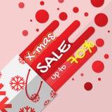 De verkoopbevordering van de Kerstmisvakantie op sneeuwvlokkenpatroon het winkelen zakachtergrond Vlak vectorontwerp vector illustratie