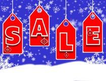 De verkoopconcept van Kerstmis Stock Afbeeldingen