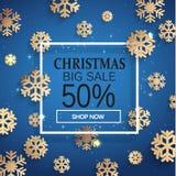 De verkoopkaart van Kerstmis Royalty-vrije Stock Foto
