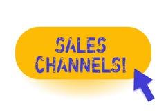 De Verkoopkanalen van de handschrifttekst De conceptenbetekenis impliceert zaken die rechtstreeks aan zijn klanten verkopen vector illustratie
