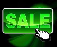 De verkoopknoop betekent World Wide Web en het Zoeken Royalty-vrije Stock Foto's