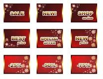 De verkoopmalplaatje van de winter Stock Afbeelding
