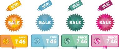 De verkoopmarkering van de korting. Stock Foto's