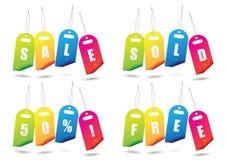 De verkoopmarkeringen van de regenboog Stock Afbeeldingen