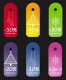 De verkoopmarkeringen van de winter Stock Foto's