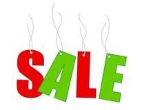 De verkoopmarkeringen van Kerstmis Royalty-vrije Stock Foto's