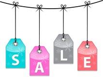 De verkoopprijskaartjes van Kerstmis Stock Foto