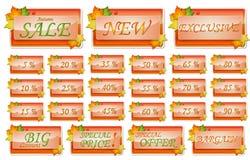 De verkoopreeks van de herfst Royalty-vrije Stock Fotografie
