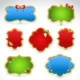 De verkoopstickers en markeringen van Kerstmis Stock Foto's
