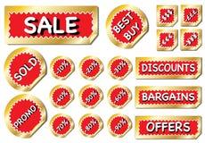 De verkoopstickers van de bumper royalty-vrije illustratie