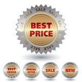 De verkoopstickers van Promo. Stock Afbeelding