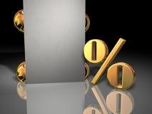 De verkoopteken van het percentage stock afbeelding
