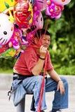 De verkoper van de ballon in Taipeh, Taiwan, 18 Mei royalty-vrije stock afbeeldingen