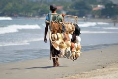 De verkoper van de hoed in Brazilië Stock Fotografie