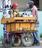 De Verkoper van de kokosnoot bij Voorzitterschap Campaingn Royalty-vrije Stock Foto