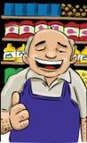 De verkoper van de kruidenierswinkelopslag Royalty-vrije Stock Afbeeldingen