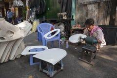 De verkoper van de straat in Vietnam Royalty-vrije Stock Afbeelding