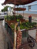 De Verkoper van de voedselkar in straat van Ceinfuegos Cuba royalty-vrije stock foto