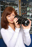 De verkoper van fototechniek Royalty-vrije Stock Afbeeldingen