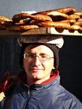 De Verkoper van het ongezuurde broodje Stock Foto