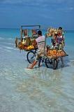 De Verkoper van het strand stock foto