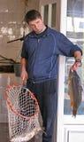 De verkoper van vissen Stock Fotografie