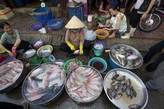 De Verkoper Vietnam van zeevruchten Stock Afbeelding