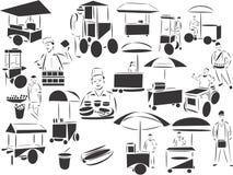 De Verkopers van het Voedsel van de straat stock illustratie