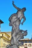 De verkrachting van Sabine Women in Loggiadei Lanzi, in Florenc royalty-vrije stock afbeeldingen