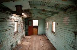 De verlaten Binnenlandse Westelijke Spookstad van Spoorwegcaboose Stock Afbeelding